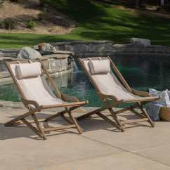 Sling Chair Outdoor Egg Restoration Hardware Shop Nikki Wood Set Of 2 By Christopher Knight Home