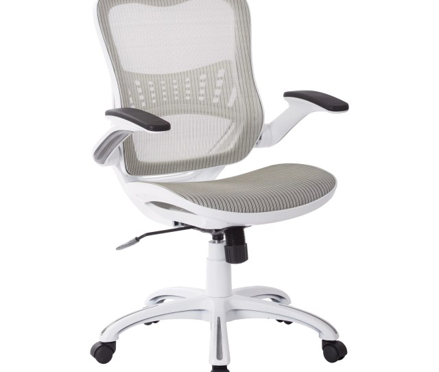 Osp Home Furnishings Riley Office Chair With White Mesh Seat And Back