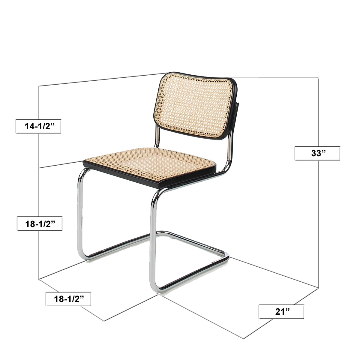 breuer chairs for sale parson chair covers bed bath and beyond shop company cesca cane dining in chrome honey oak free shipping today overstock com 14783391