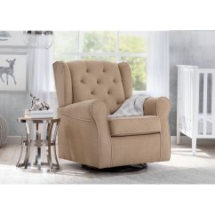 Swivel Rocking Chairs For Living Room Black White And Gold Ideas Shop Delta Children Emerson Nursery Glider Rocker Chair Beige With Ecru Welt