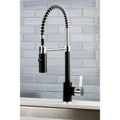 Kitchen Faucet Black Industrial Island Shop Chrome Modern Spiral Pulldown Free