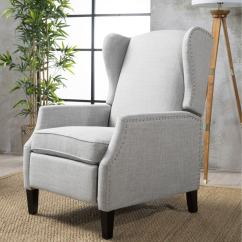 Christopher Knight Club Chair High Chairs For Small Babies Shop Wescott Wingback Fabric Recliner By Home