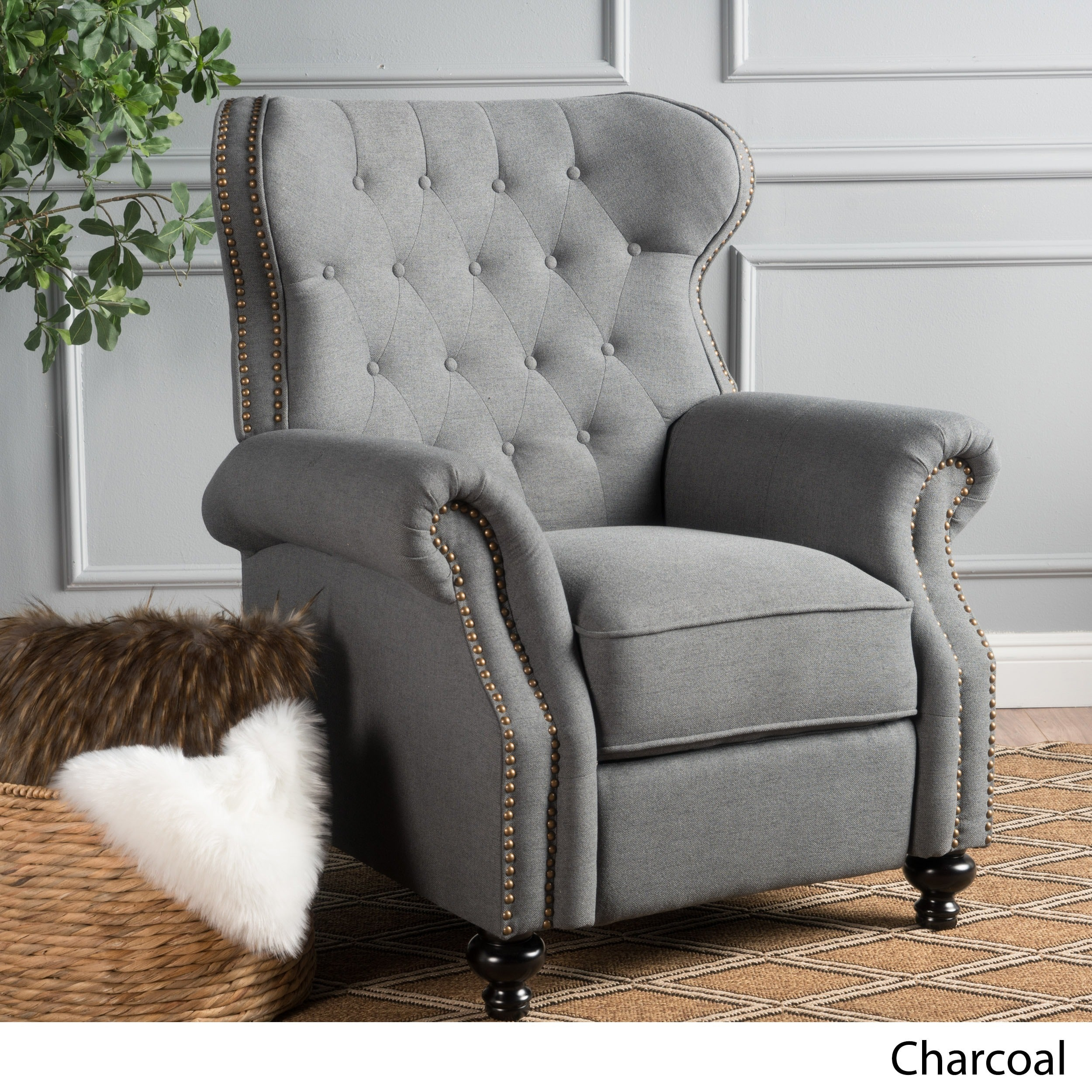 christopher knight club chair cheap wood chairs shop walder tufted fabric recliner by home
