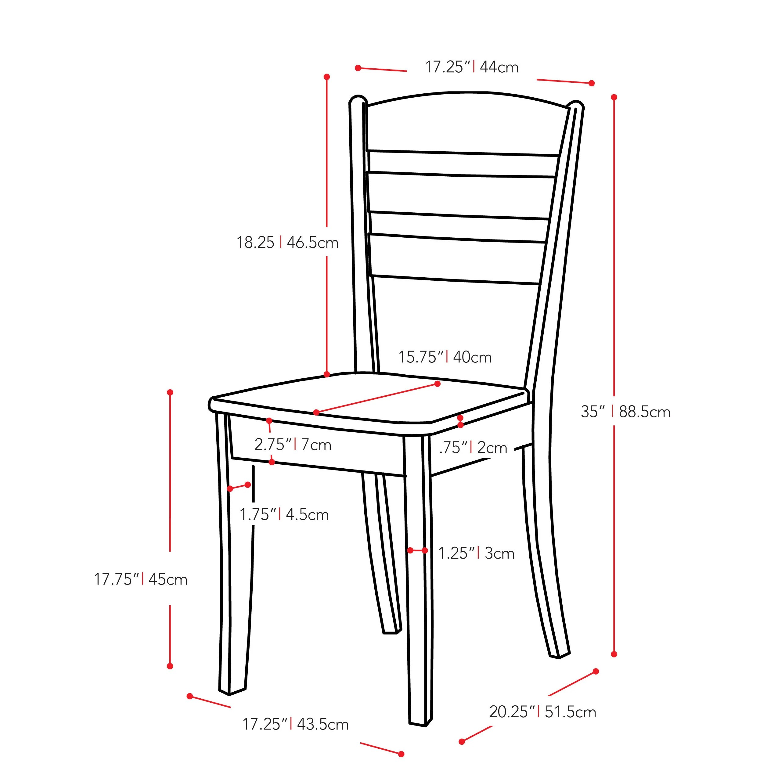 dillon chair 1 2 spandex covers canada shop corliving cappuccino stained solid wood dining set of on sale free shipping today overstock com 15438680