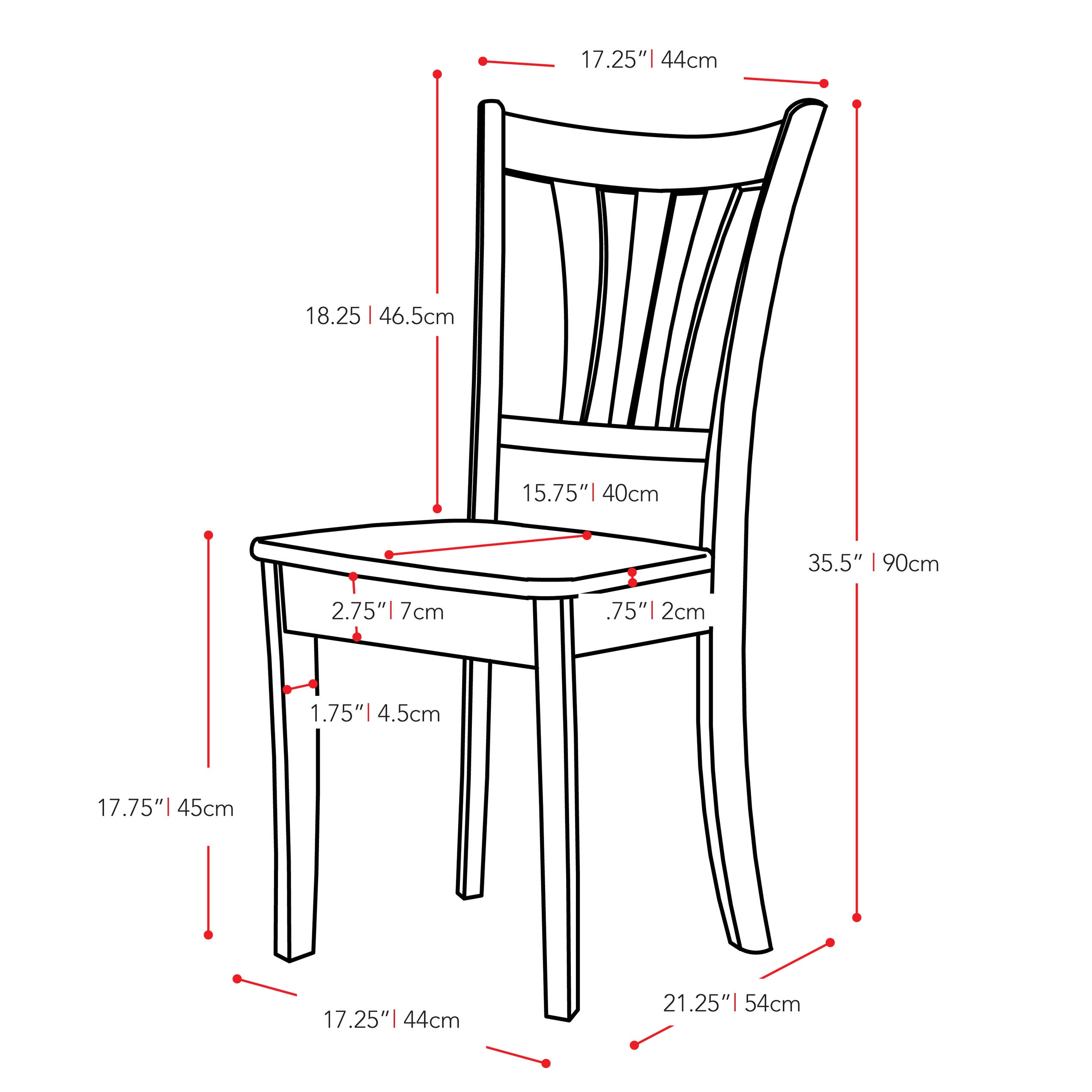 dillon chair 1 2 best lumbar support cushion for office shop corliving dark brown and cream solid wood curved vertical slat dining chairs set of free shipping today overstock com 15438697