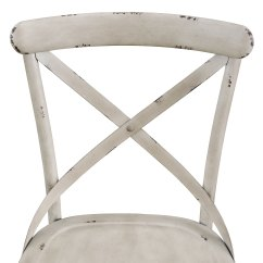 White Distressed Dining Chairs Tall Round Kitchen Table And Shop Antique Metal Chair Free Shipping Today Overstock Com 15634787