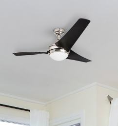 52 honeywell rio brushed nickel 3 blade ceiling fan with integrated light and remote [ 1550 x 1550 Pixel ]