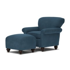 Microfiber Club Chair With Ottoman Large Circle Shop Handy Living Fairfax Blue Arm And Set On Sale Free Shipping Today Overstock Com 16105818