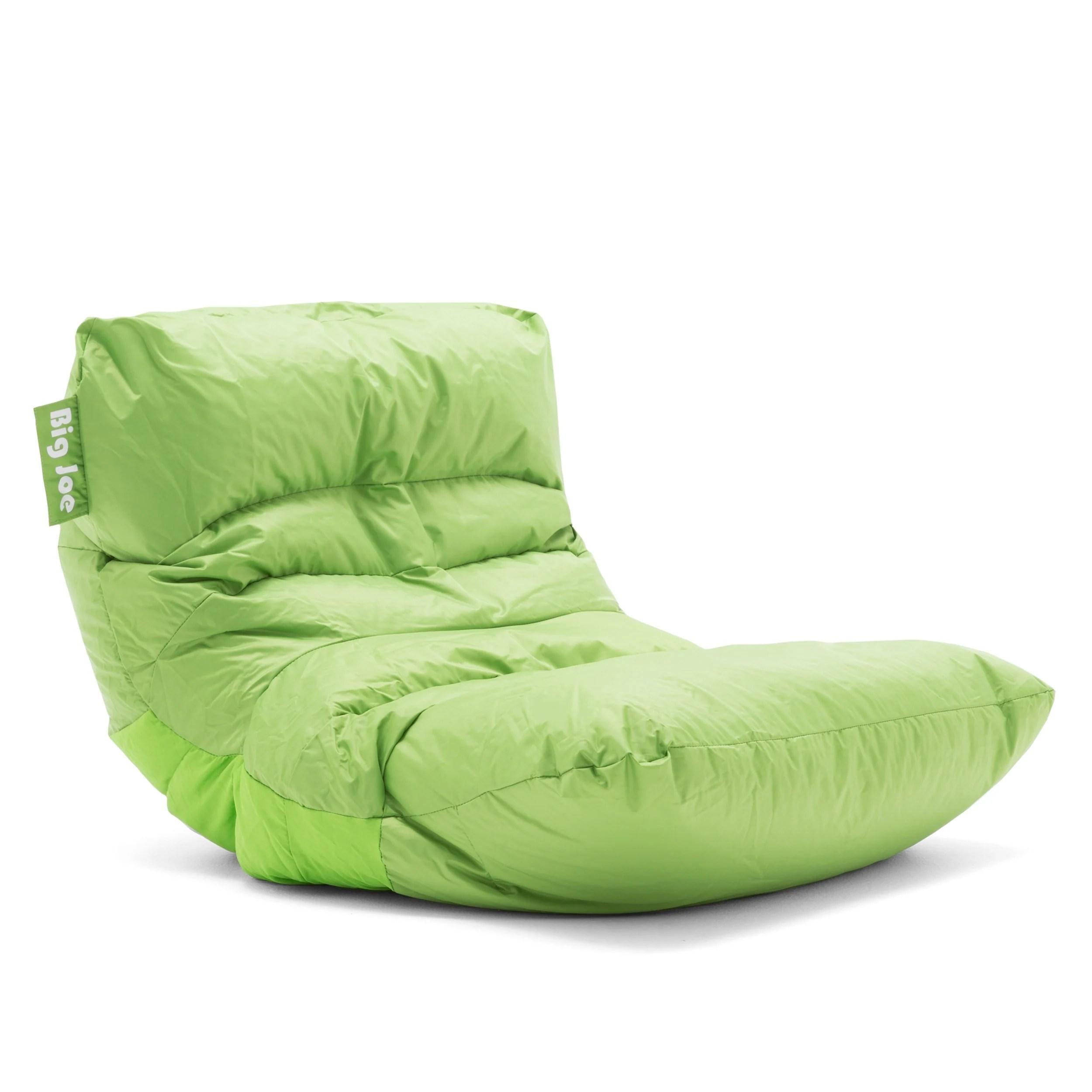 green bean bag chair mickey mouse desk shop big joe roma smartmax free shipping today overstock com 16257655