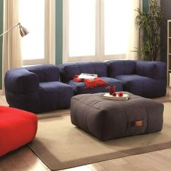 Living Room Bean Bags Curtains At Walmart Shop Frameless Cozy Bag Style Sofa Set Ships To Canada Overstock Ca 16285190
