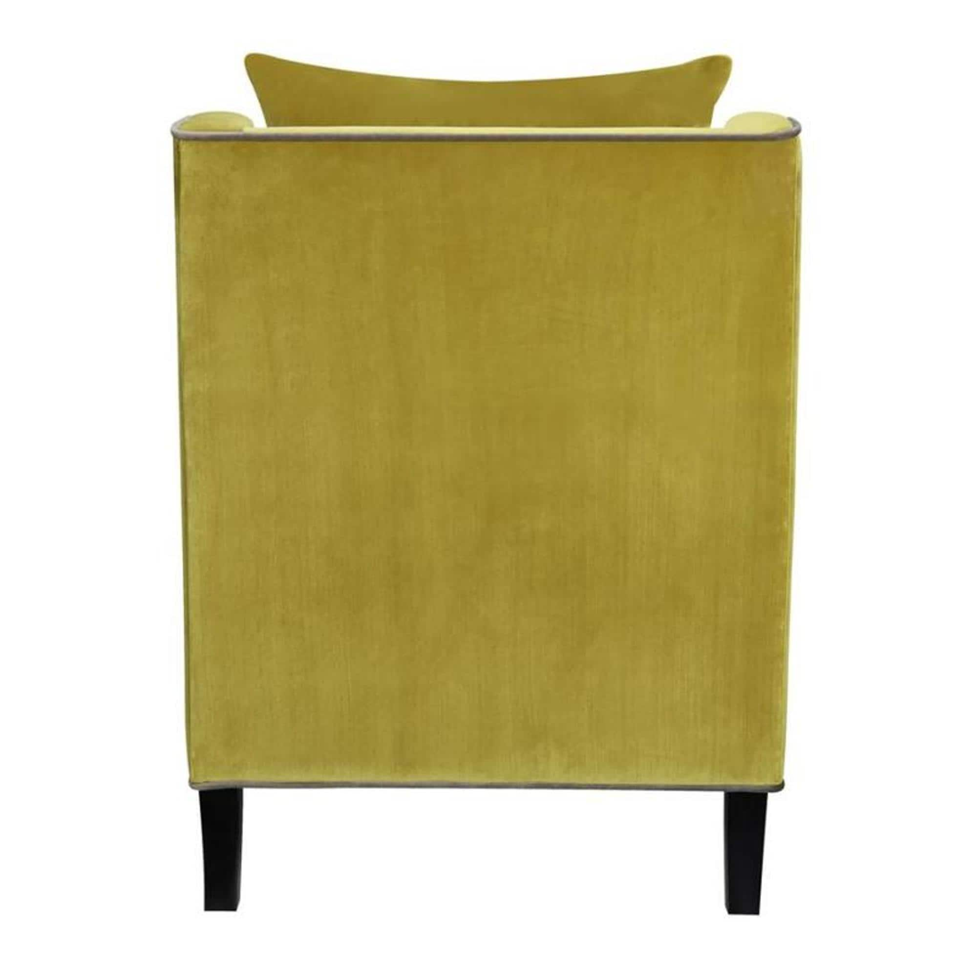 Grey And Yellow Chair Living Room Yellow Velvet Accent Chair With Grey Piping