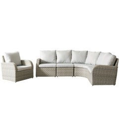 Outdoor Sofas Brisbane Empire Sofa For Sale Shop 5 Piece Blended Grey Weave Wicker Sectional Set Free Shipping Today Overstock Com 16294214