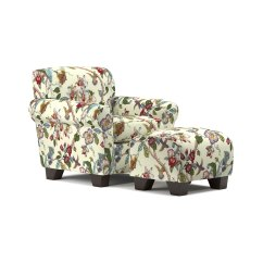 Floral Arm Chair Covers For Ikea Tullsta Shop Handy Living Winnetka Cream Armchair And Ottoman Set