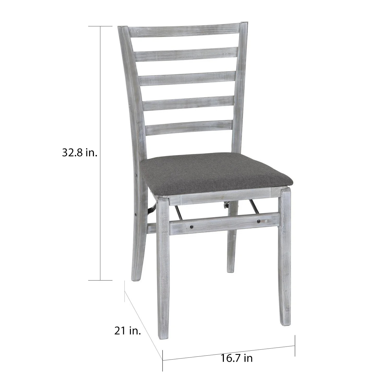 Cosco Folding Chair Cosco White Wash And Grey Wood Folding Chair With Fabric Seat Set Of 2