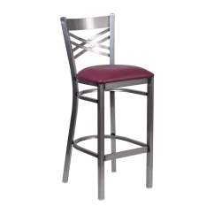 Steel Vinyl Chair Swing Indoor Shop Offex Hercules Series Clear Coated X Back Metal Burgundy Seat Restaurant Barstool Free Shipping Today Overstock Com 16649997