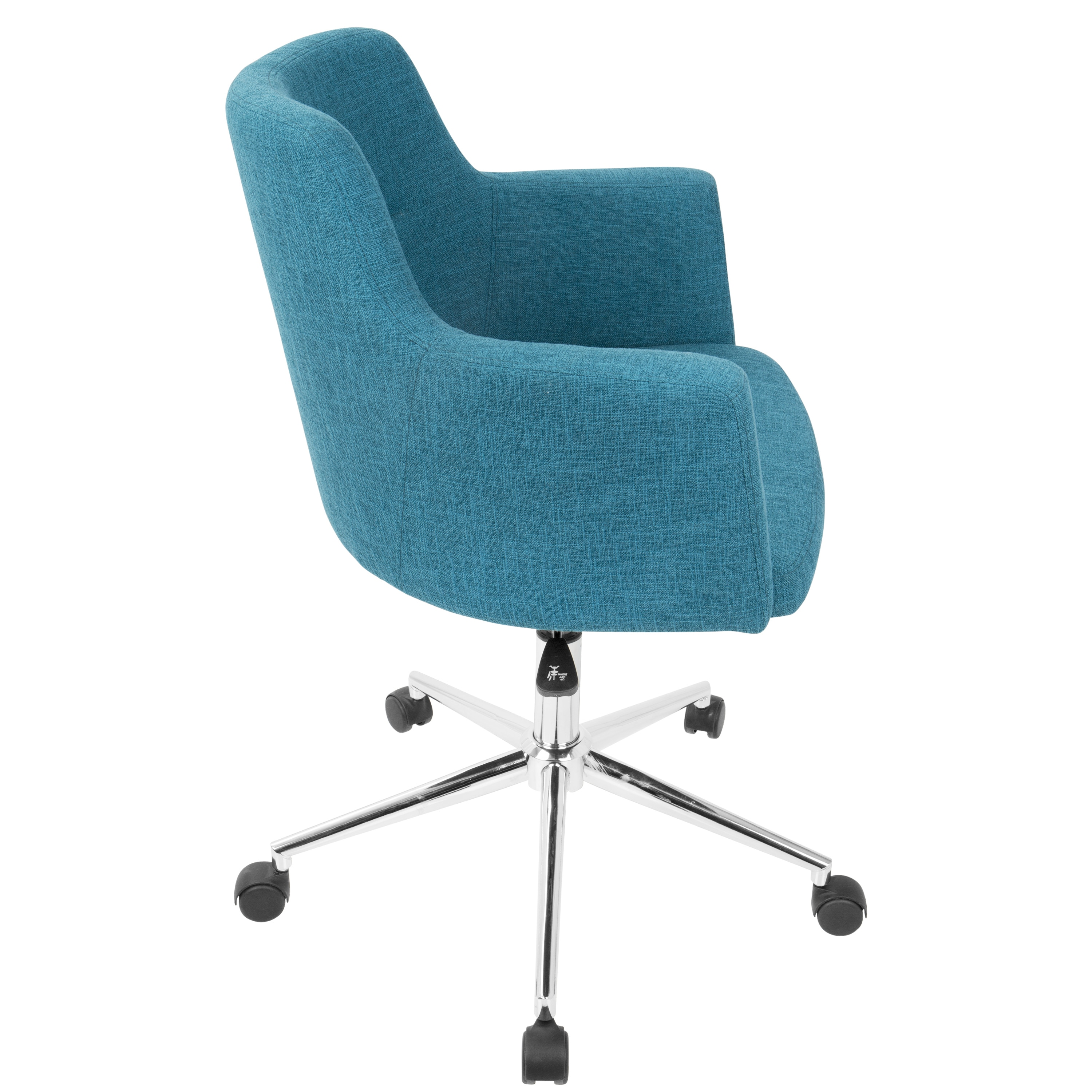 turquoise office chair dining covers kmart nz shop andrew contemporary in fabric free shipping today overstock com 16722566