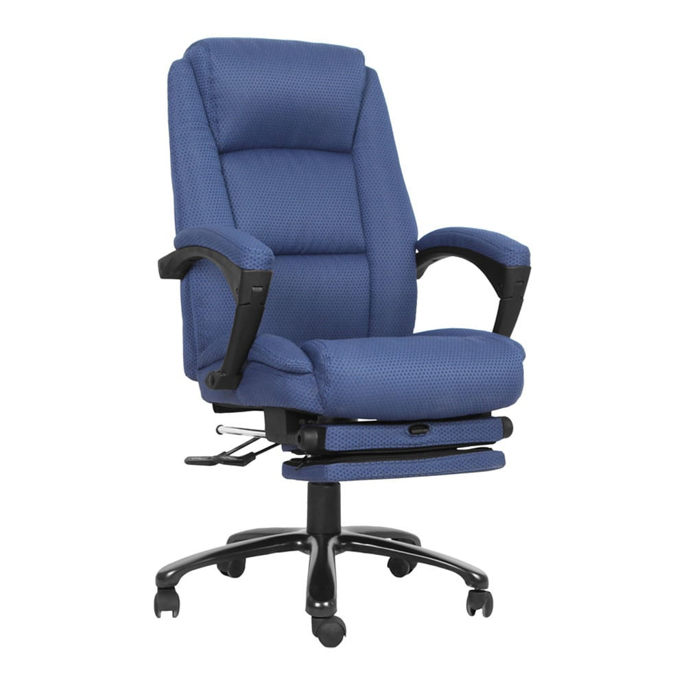 office chair high seat butterfly covers walmart shop offex back navy fabric executive reclining swivel with comfort coil springs and padded armrests free shipping today