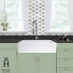 36 Kitchen Sink Pantry Ideas Shop Highpoint Collection Inch Single Bowl Fireclay Farmhouse