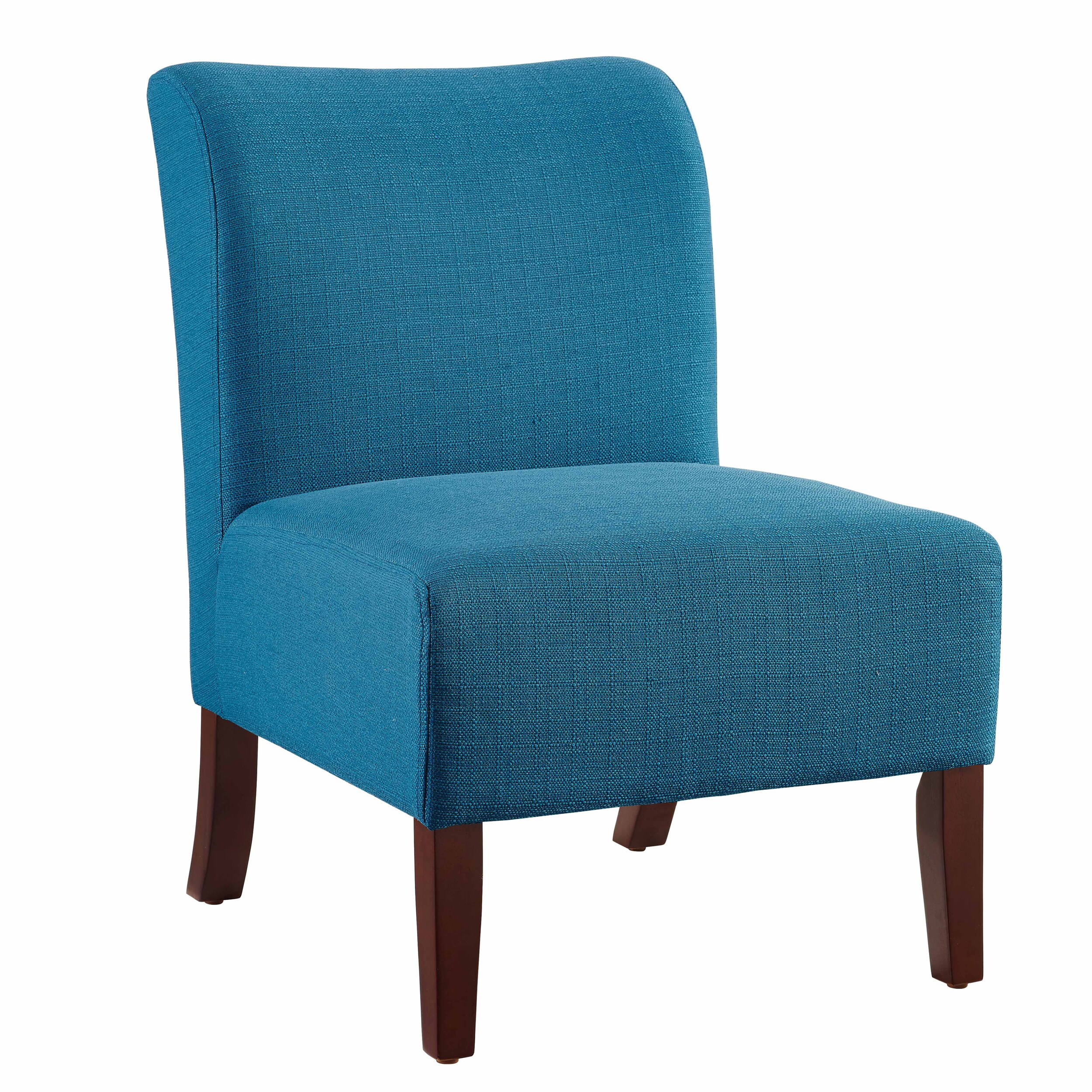 Blue Slipper Chair Jules Curved Back Blue Slipper Chair