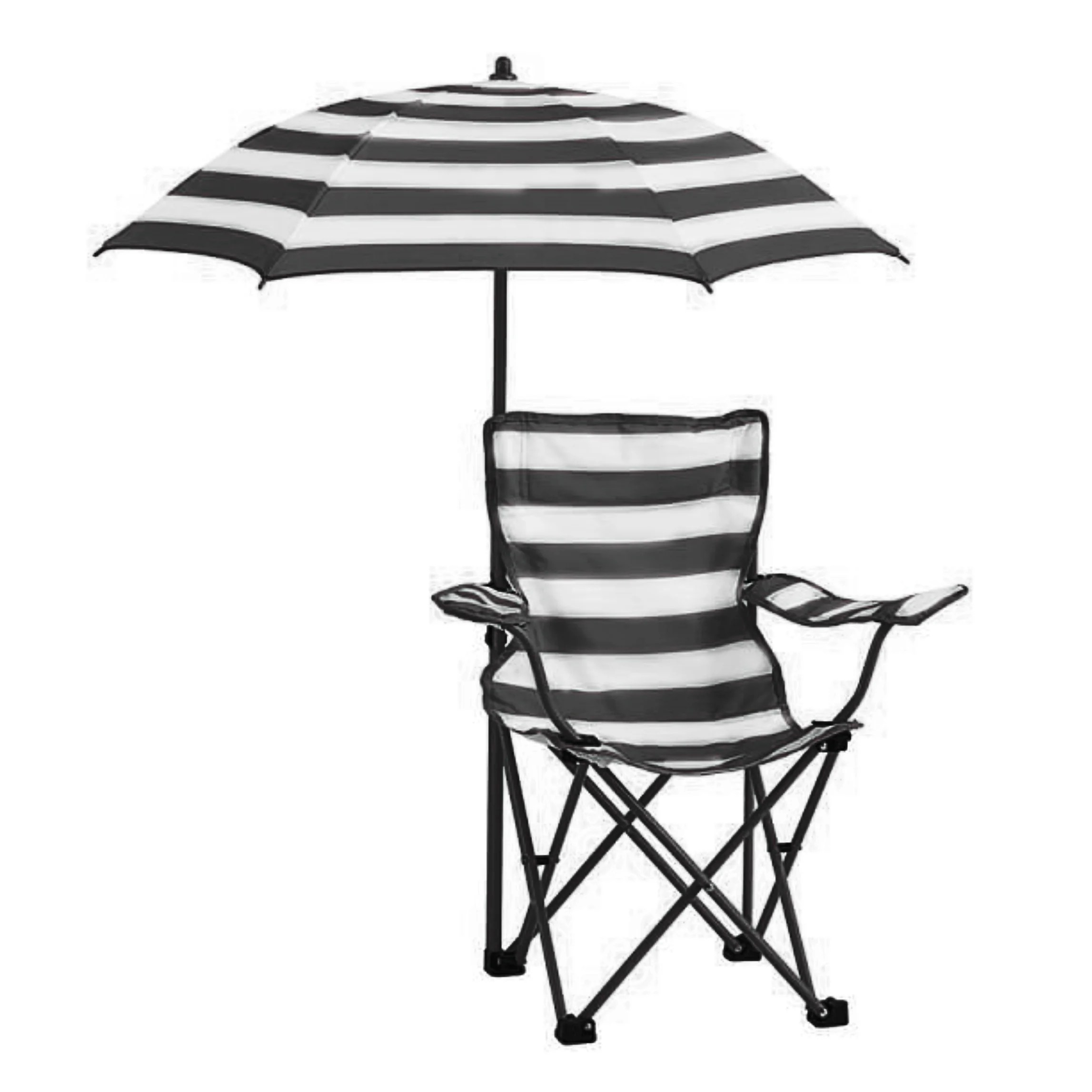 Chair With Umbrella Kids Rugby Stripe Beach Chair With Umbrella