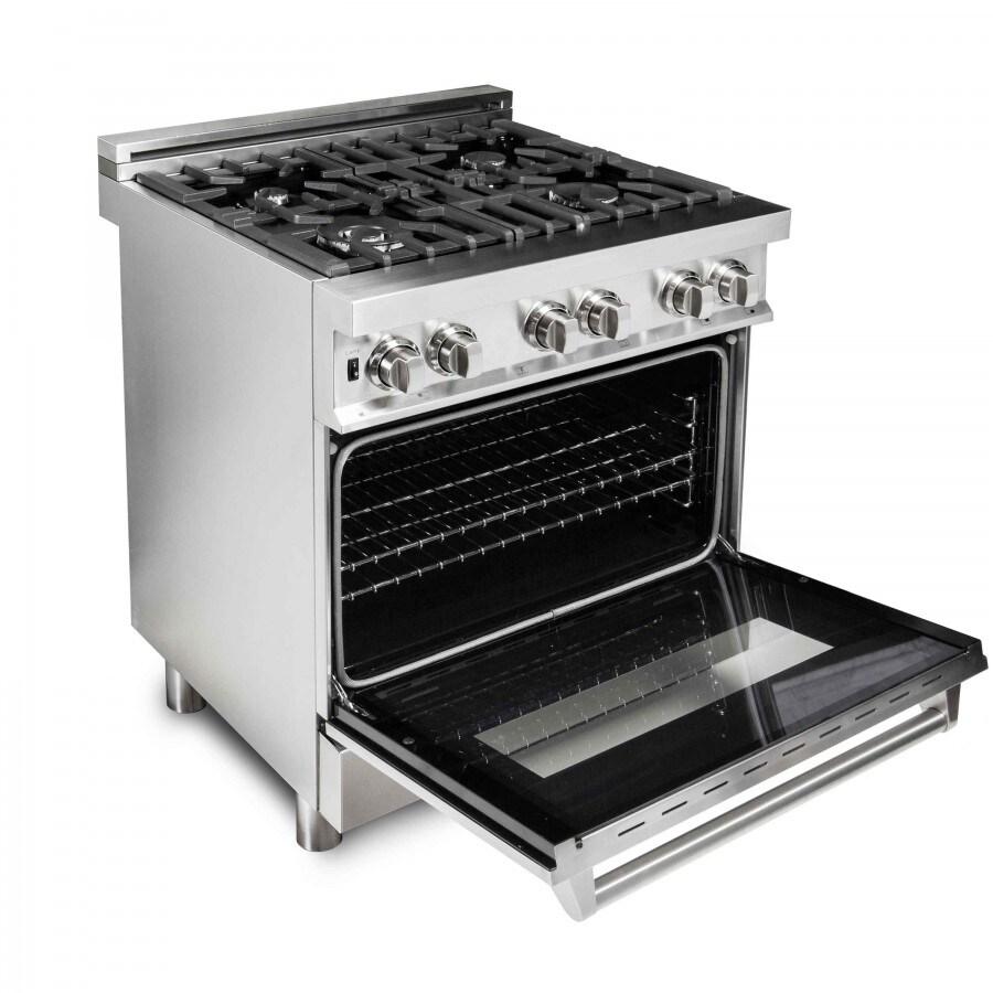 electric kitchen stove home designs shop zline 30 in 4 0 cu ft gas burner oven range ra30