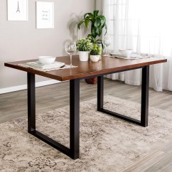 60 Inch Kitchen Table Cabinets Sizes Shop Two Tone Wood Dining X 36 30h On Sale Free