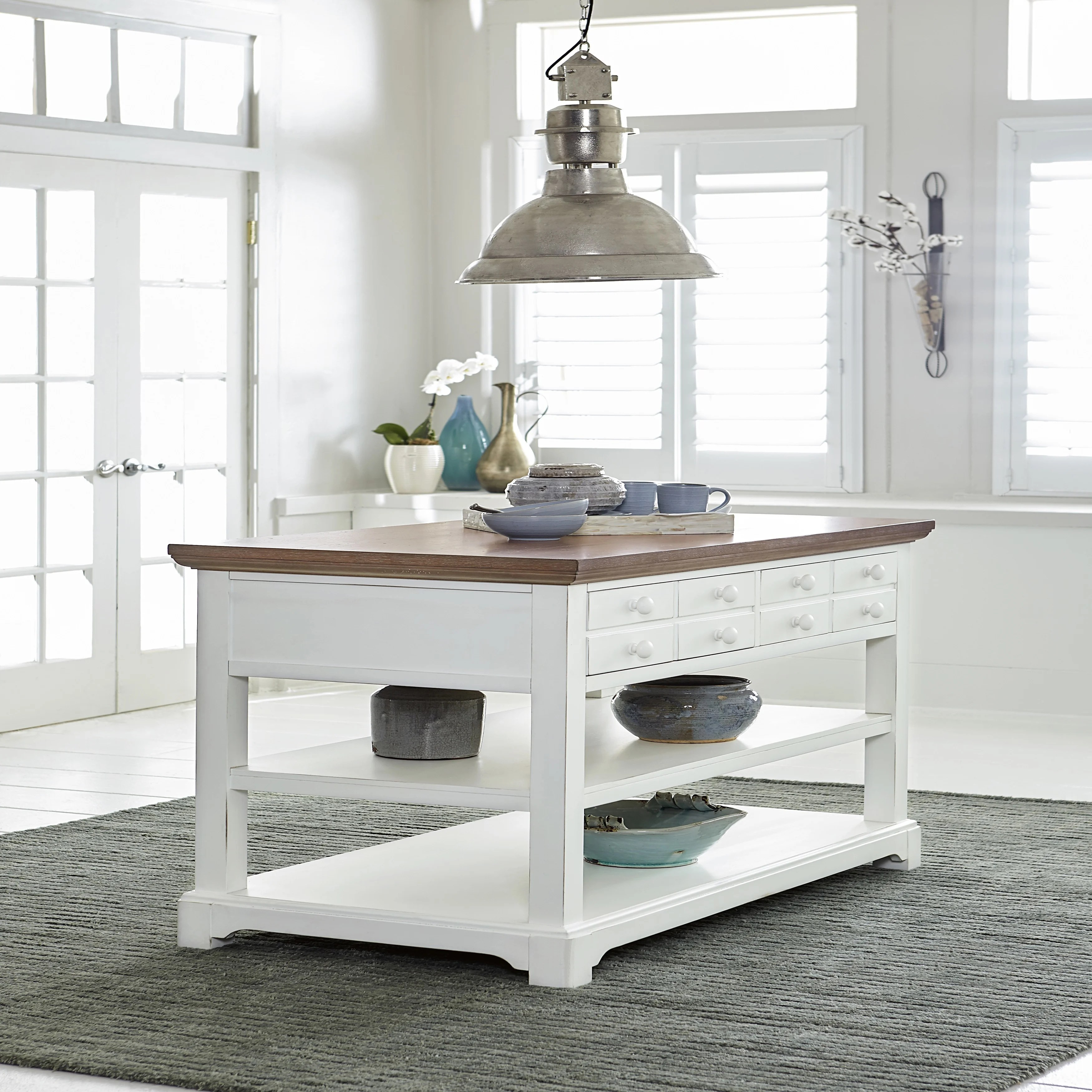 kitchen shutters retro table sets shop white island free shipping today overstock com 17185416