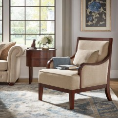 Transitional Accent Chairs Child Patio Chair Shop Brenda Espresso Wood By Inspire Q Classic