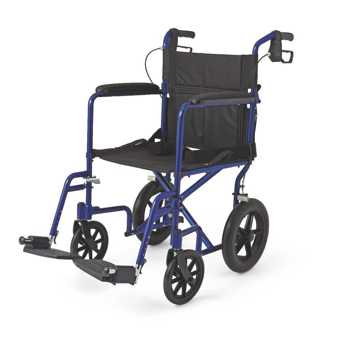 transport wheel chair dining room replacement covers shop medline deluxe aluminum wheelchair free shipping