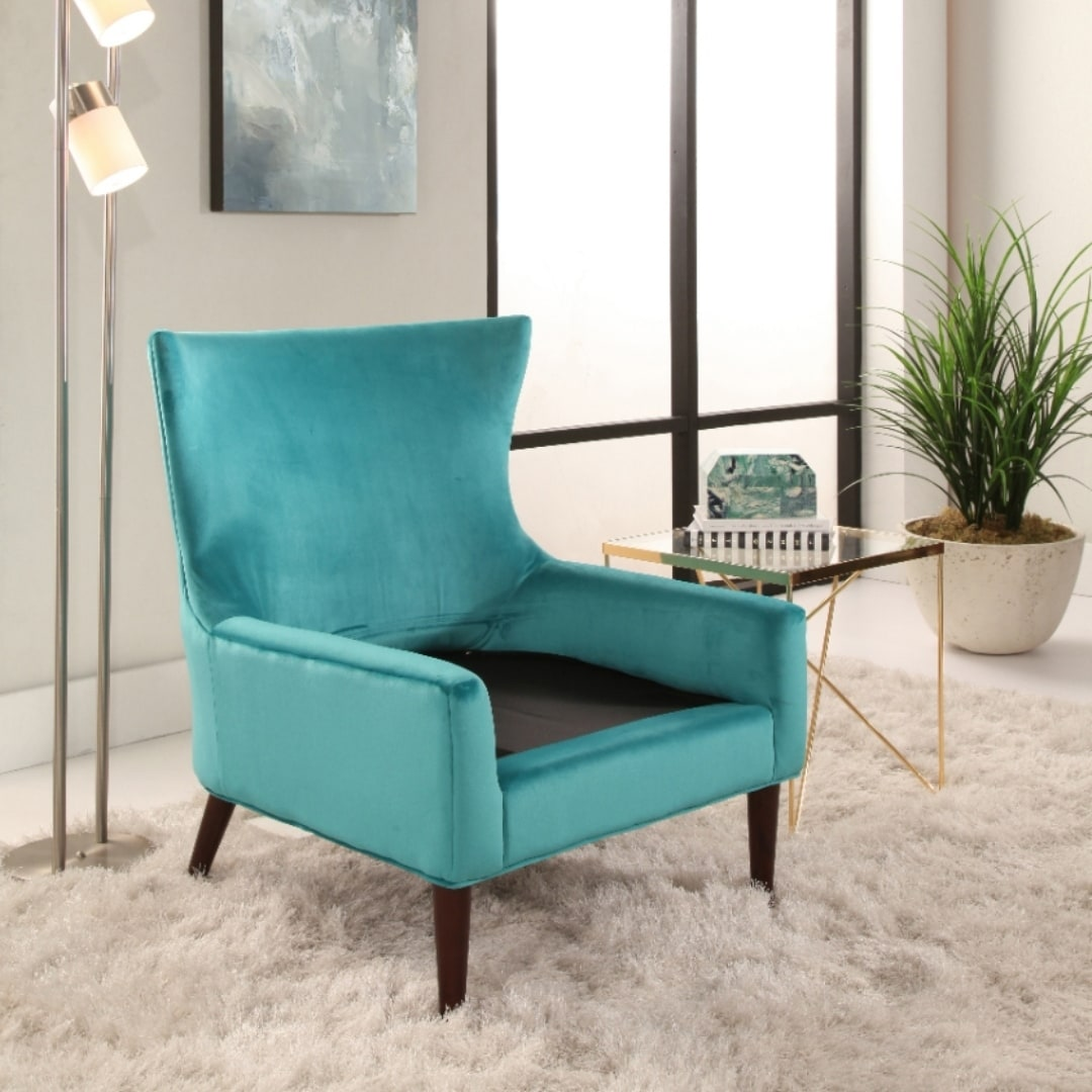 Teal Wingback Chair Abbyson Auburn Velvet Wingback Chair