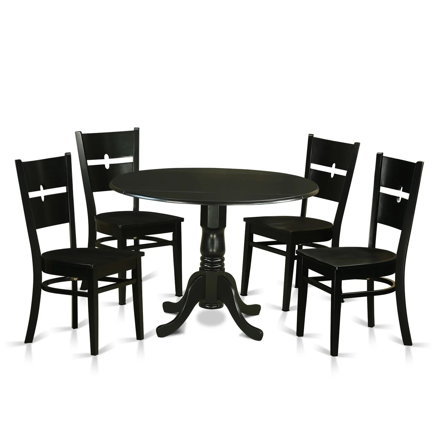 Set Of 4 Kitchen Chairs Dlro5 W 5 Pc Kitchen Set For 4 Dining Table And 4 Kitchen Chairs