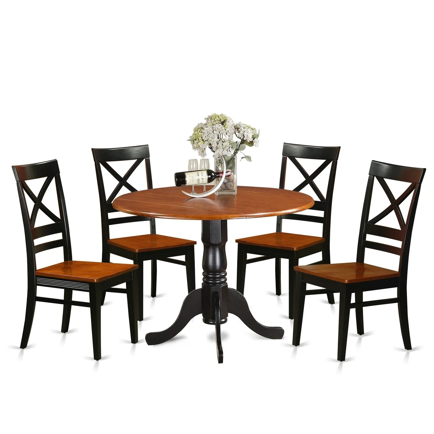 Set Of 4 Kitchen Chairs Dining Table Set For 4