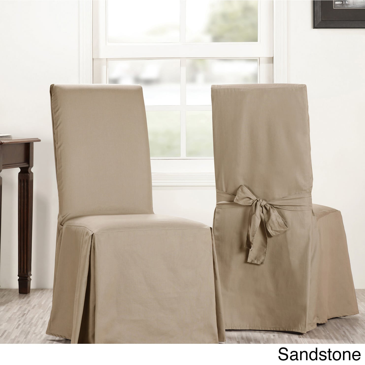 club chair covers dark grey dining chairs shop exclusive fabrics solid cotton sold as pair free shipping on orders over 45 overstock com 17754718