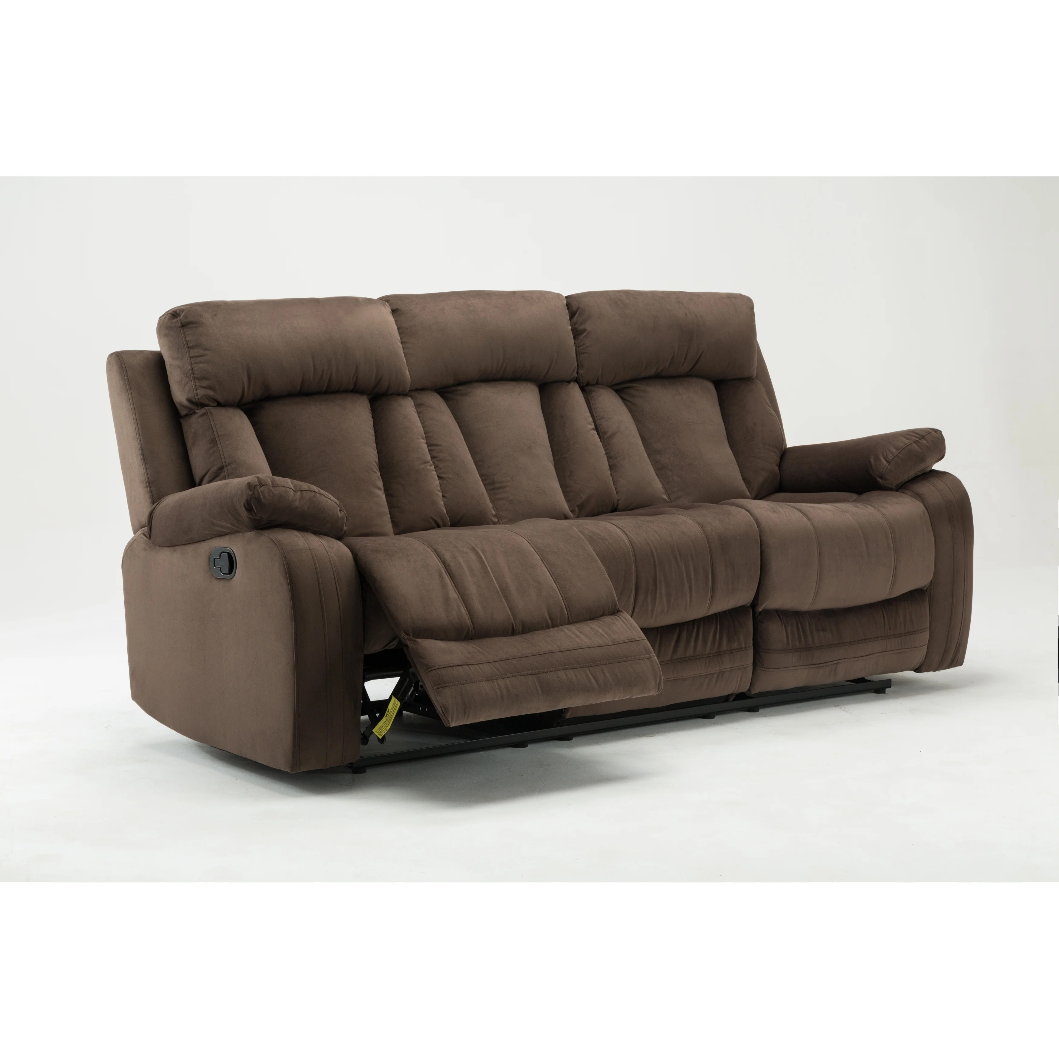 microfiber fabric sofa nailhead ashley shop gu industries upholstered living room recliner