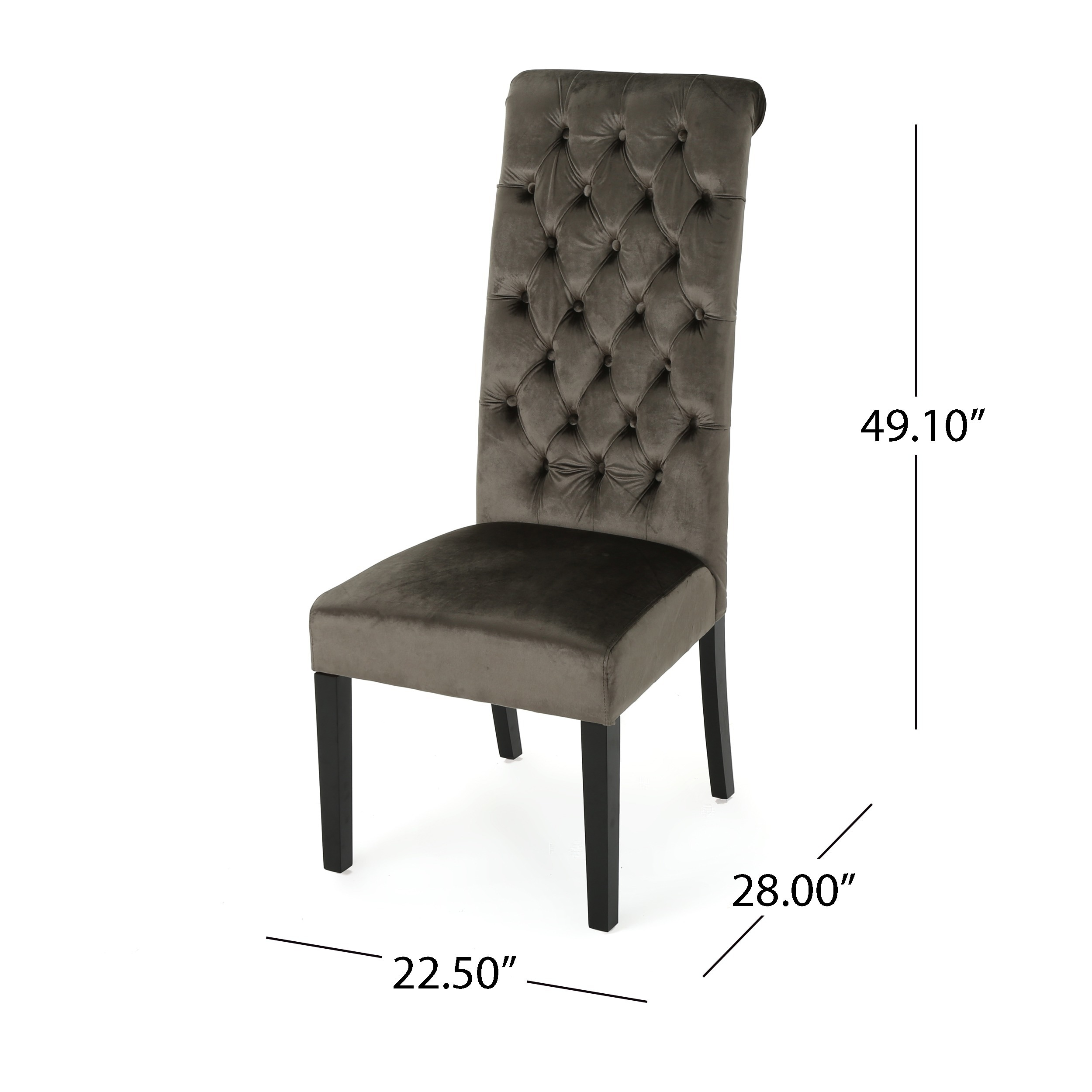 tall back chairs desk no wheels shop leorah tufted velvet dining chair set of 2 by christopher knight home on sale free shipping today overstock com 17809719