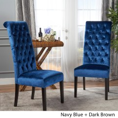 Tall Back Dining Chairs Mamas And Papas Chair Seat Shop Leorah Tufted Velvet Set Of 2 By Christopher Knight Home On Sale Free Shipping Today Overstock Com 17809719