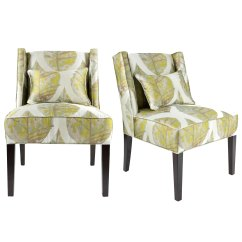 Upholstered Slipper Chair Electric Recliner Covers Shop Nolani Modern Fabric Autumn Wingback