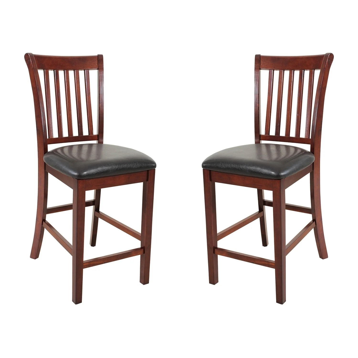 Kitchen Chairs Wood Solid Wood Counter Height Sturdy Dining Chair Modern Kitchen Chair Chestnut Set Of 2