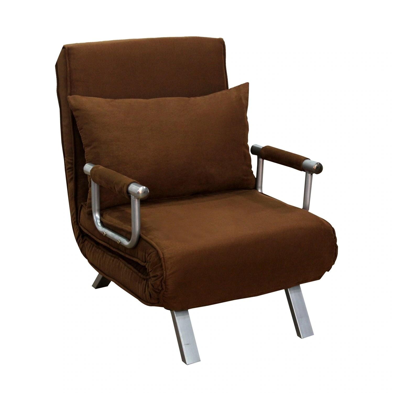 single sleeper chair high back designer chairs shop homcom 26 convertible bed free shipping