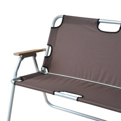 2 Person Camping Chair Church Chairs For Sale Shop Outsunny Folding Aluminum Love Seat Free Shipping Today Overstock Com 18004893