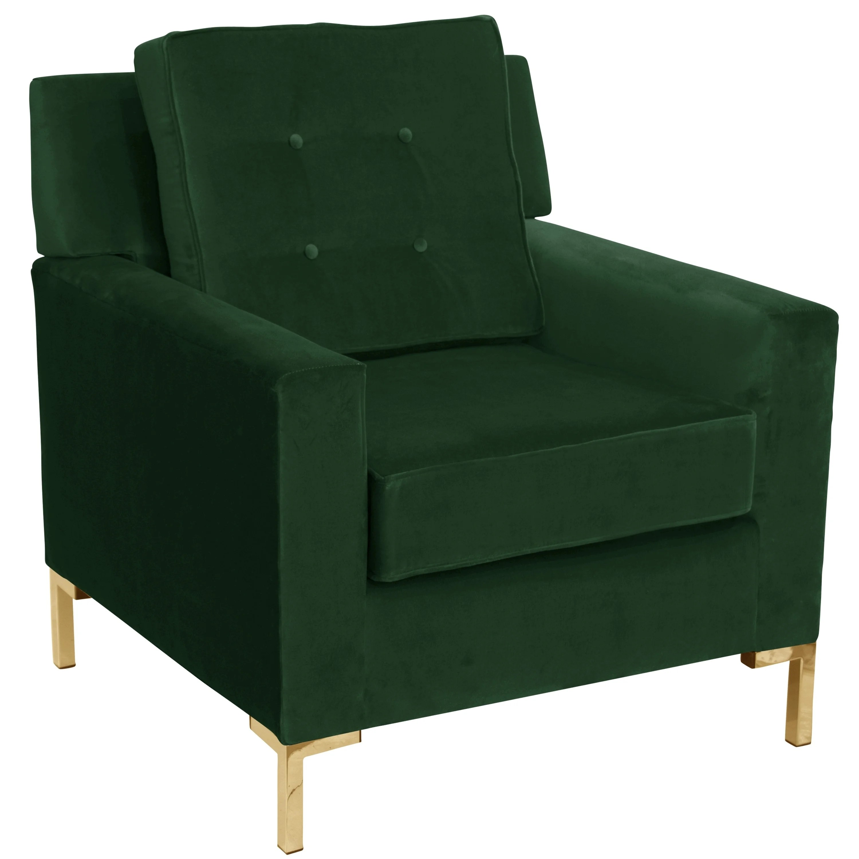Emerald Green Accent Chair Skyline Furniture Accent Chair In Fauxmo Emerald