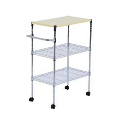 Wire Kitchen Cart Green Chairs Shop Homcom 24 Portable Rolling Shelf Storage Trolley