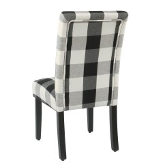 Black Parsons Chair Portable Cloth High Canada Shop Homepop Dining Plaid Set Of 2 On Sale Free Shipping Today Overstock Com 18097044