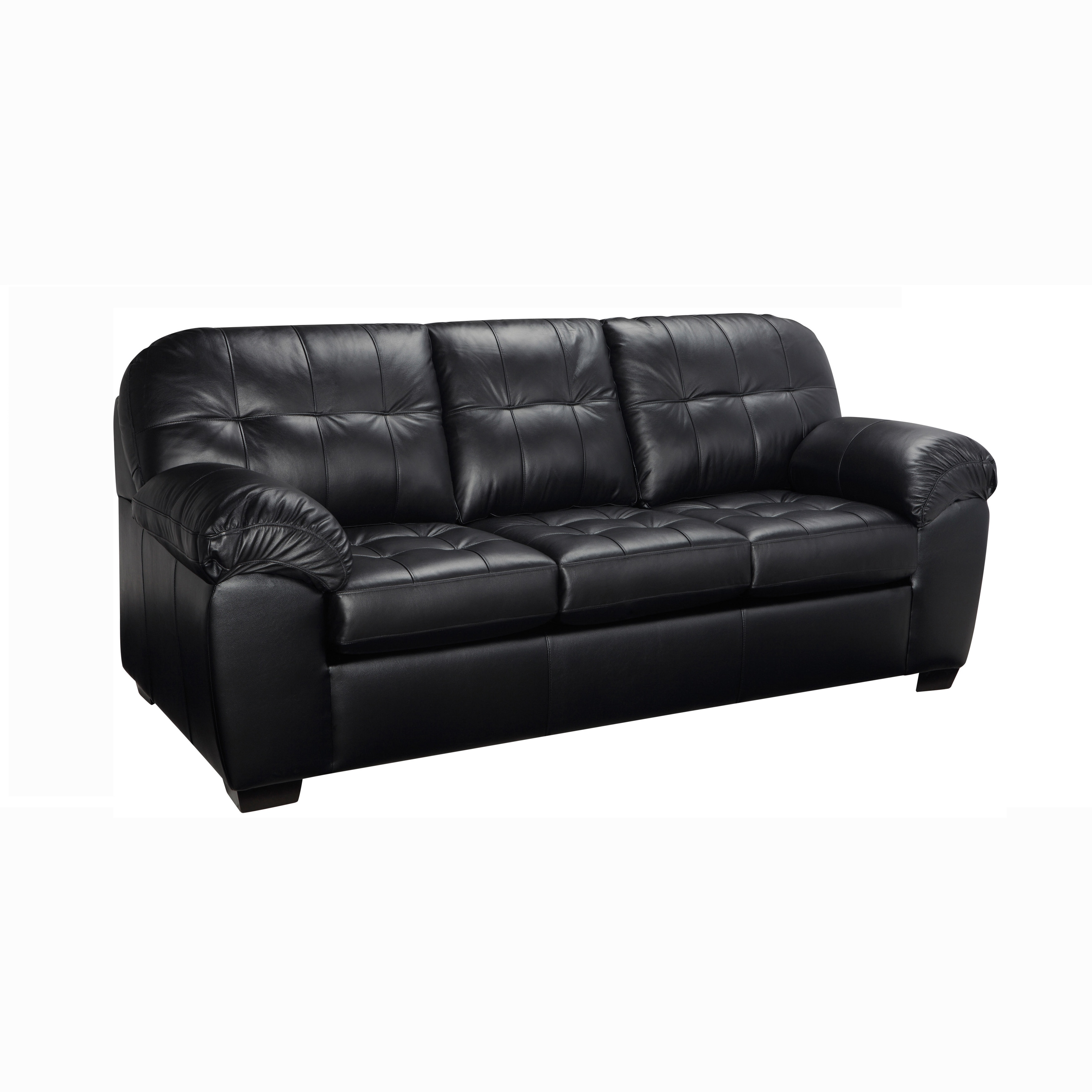 emma tufted sofa armless sofas design shop premium black top grain leather on sale free shipping today overstock com 18107908