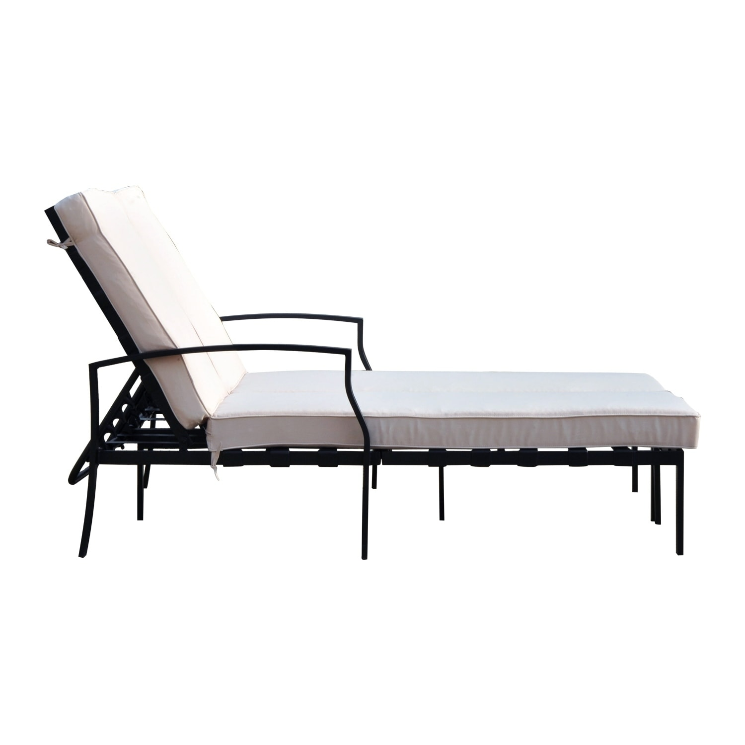 double lounge chair outdoor restoration hardware madeline review shop outsunny 74 reclining cream black free shipping today overstock com 18126451