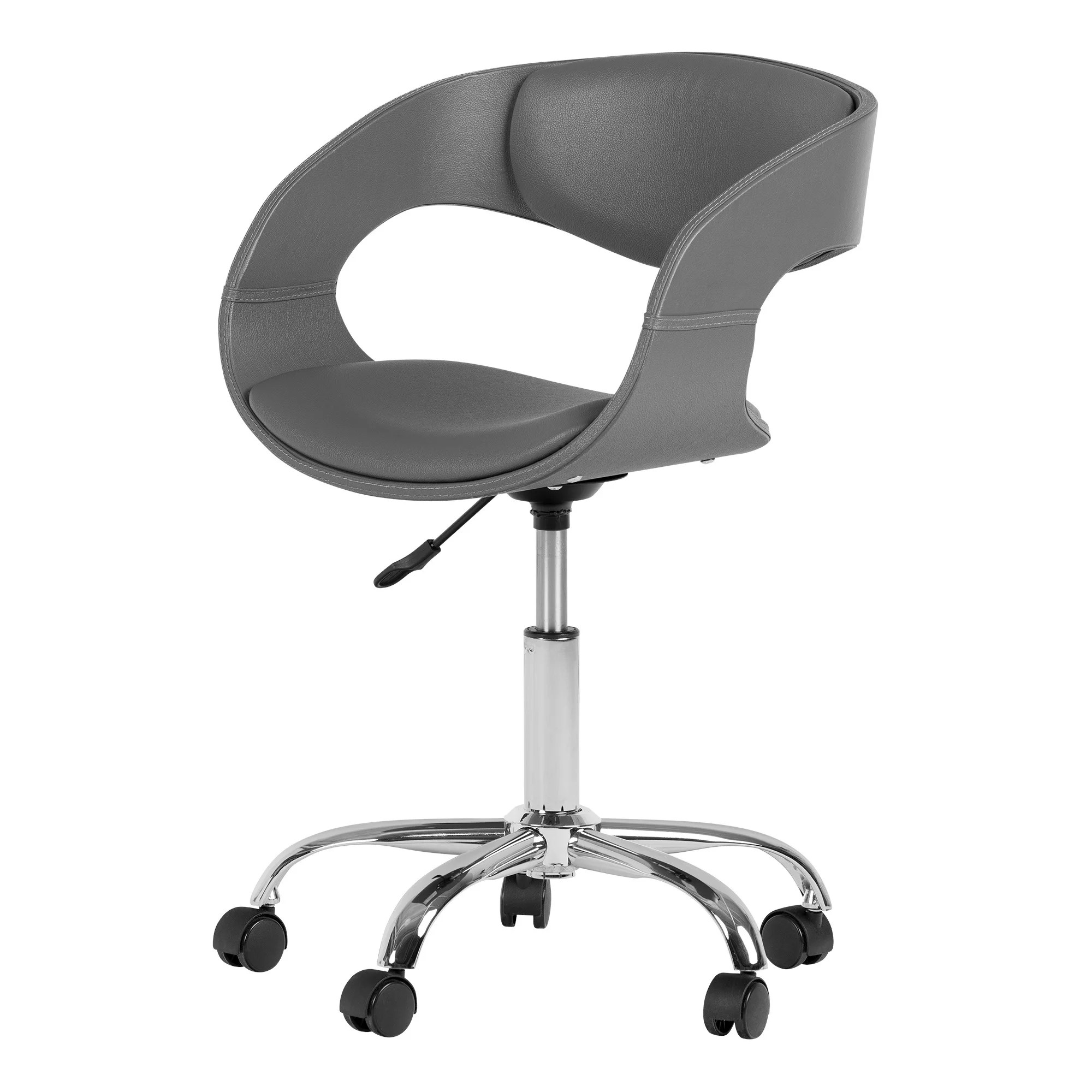 Chair On Wheels South Shore Annexe Faux Leather Adjustable Office Chair On Wheels