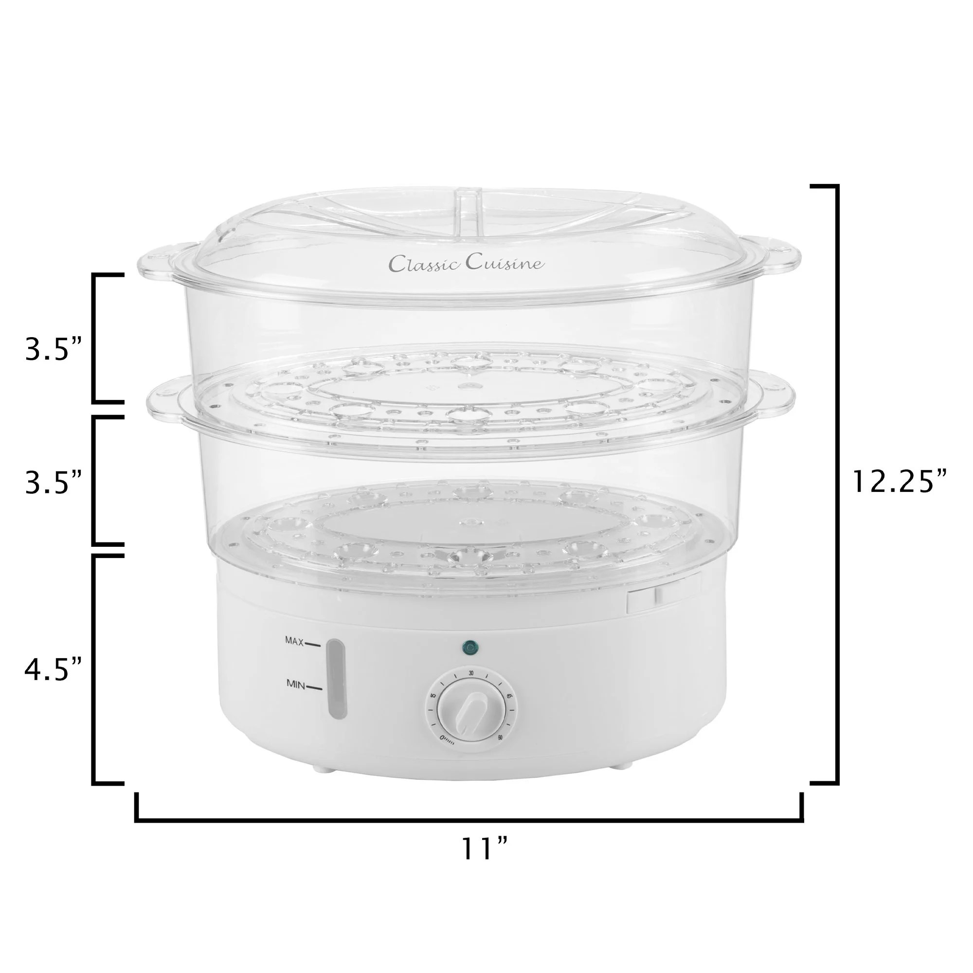 hight resolution of shop vegetable steamer rice cooker 6 3 quart electric steam appliance with timer by classic cuisine free shipping on orders over 45 overstock