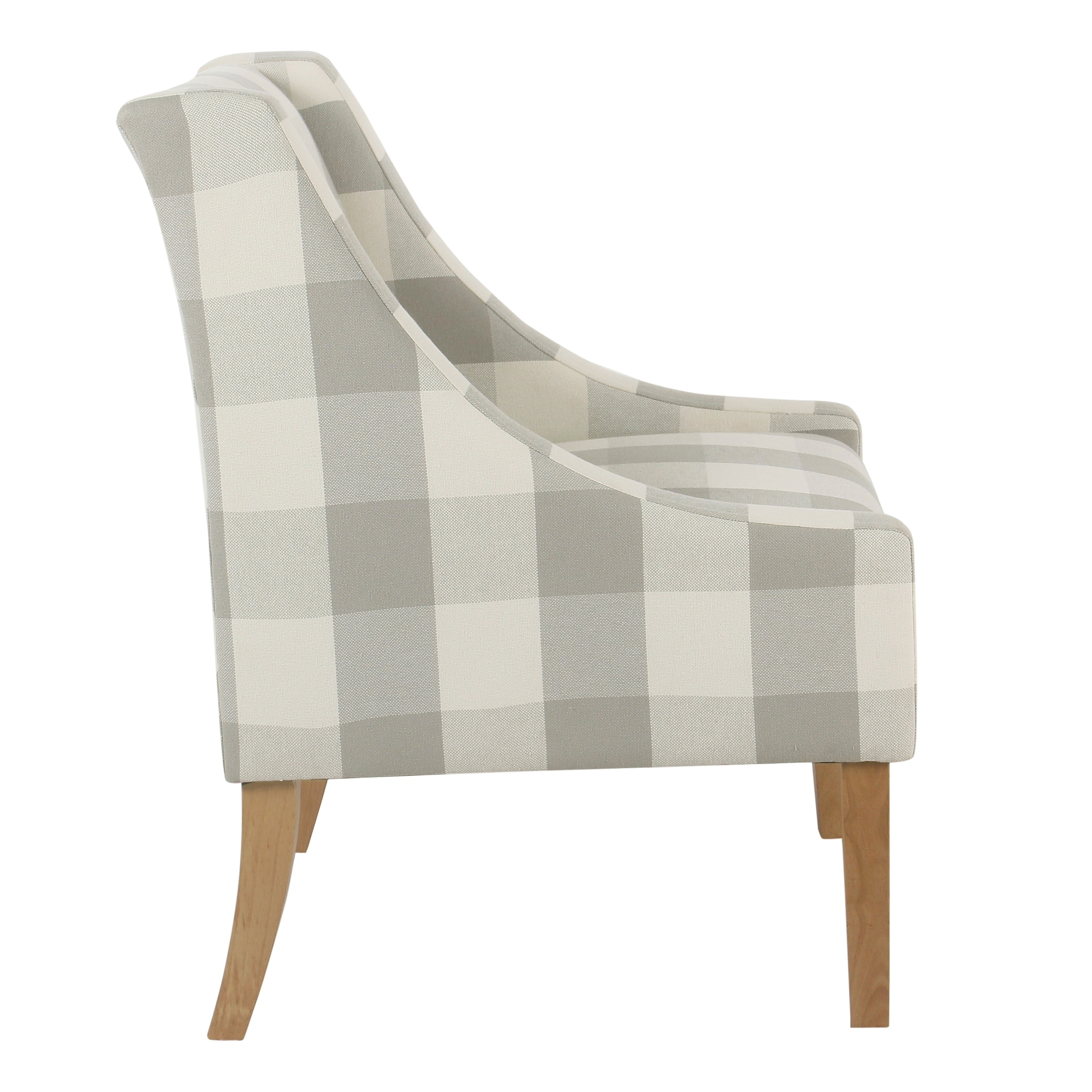 accent chairs gray pattern antique round corner chair shop copper grove gwillim modern swoop plaid
