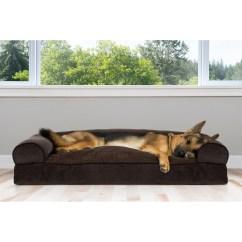Soft Sofa Dog Bed Michael Nicholas Mustang Shop Furhaven Faux Fleece Chenille Woven Pillow Pet Jumbo
