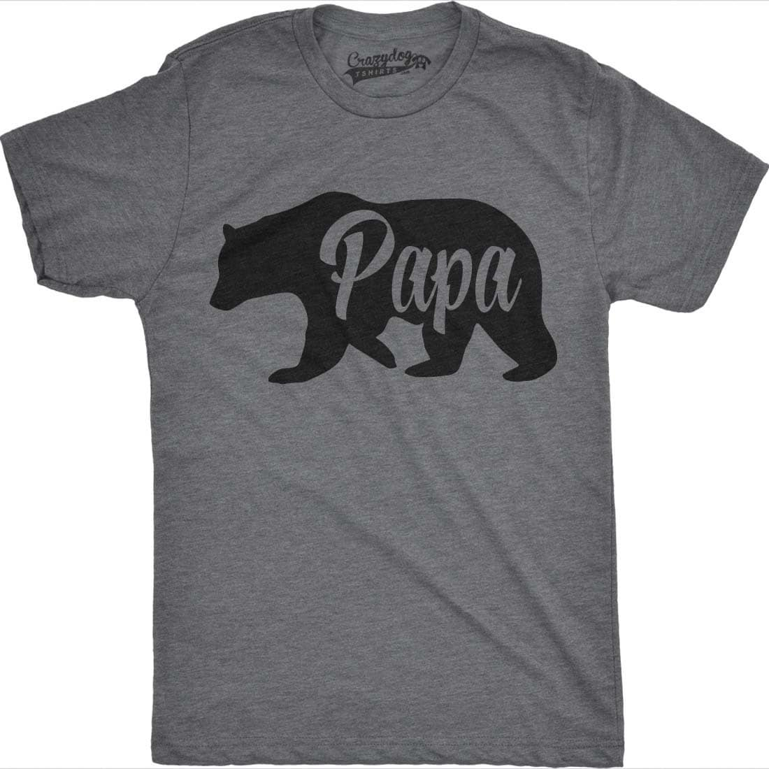 6f2ec45b8 Mens Bear Papa Funny Shirts For Dads Gift Idea Novelty Tees Family T Shirt